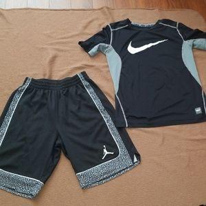 Nike /Shorts &Top/M/Boys